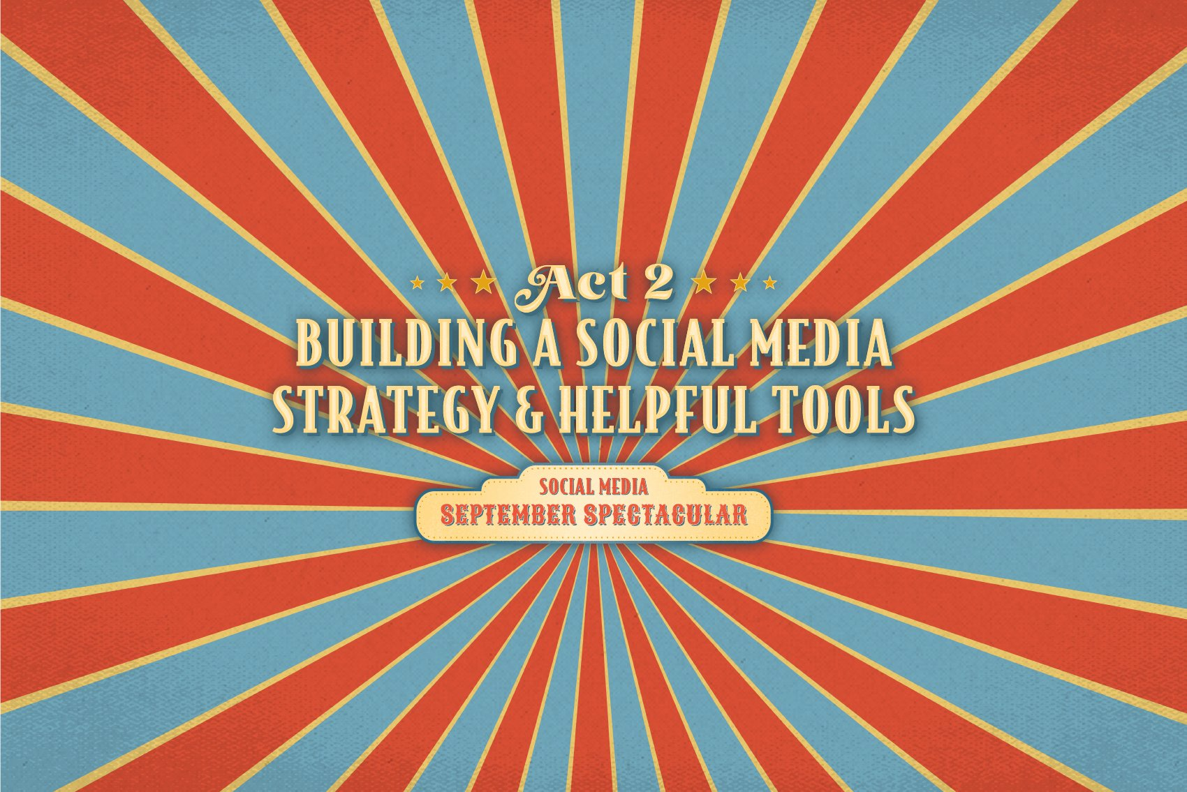 Act 2 Building a Social Media Strategy and Helpful Tools